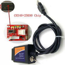 ELM327 USB V1.5 Modified OBD2 for Ford ELMconfig CH340+25K80 chip HS-CAN/MS-CAN