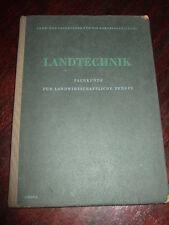 Landtechnik-Fachkunde f.landwirts.Berufe,1955,LPG,MTS,DDR,Bild.s.Text