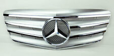 4 Fin Front Hood Silver Chrome Grill Grille for Mercedes E Class W211 07-09