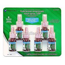 Fluticasone Propionate 50mcg Nasal Spray 6 bottles .54 fl oz each