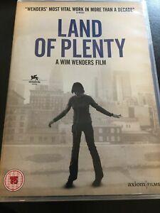 Land of Plenty DVD (2008) Michelle Williams, Wenders (DIR) cert 15 FREE UK P&P