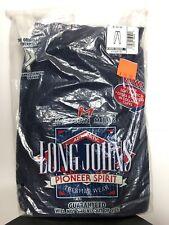 Morgan Mills Long Johns Pioneer Spirit Men XL Thermal Wear Blue Ankle Drawer