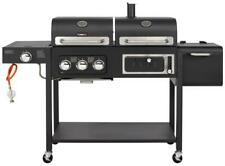 CosmoGrill Outdoor Barbecue DUO Gas Grill + Charcoal Smoker Portable BBQ