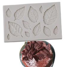 Cn _ Feuille Silicone Fondant Moule Diy Décoration Gâteau en Pâte à Sucre Ou