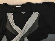 Lot Of 3 Woman's Size Medium Knit Tops Long Sleeve Black Grey Forever 21