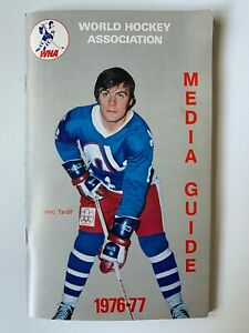Vintage 1976-77 World Hockey Association WHA Media Guide Marc Tardif - Top Cond.