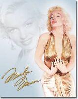 Marilyn Monroe Gold Dress Icon Retro Vintage Legend Movie Star Metal Tin Sign