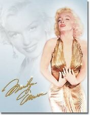 Marilyn Monroe Gold Dress Icon Retro Vintage Legend Movie Star Metal Tin Sign