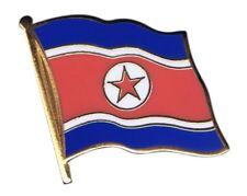 Nordkorea Flaggen Pin Fahnen Pins Fahnenpin Flaggenpin Anstecker