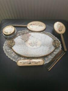 Fabulous Vintage Petit Point Ormolu Dressing Table/Vanity Set