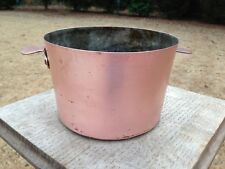"""Antique 6.25"""" Mauviel Style Copper Charlotte Mold Tin Lined 16cm"""