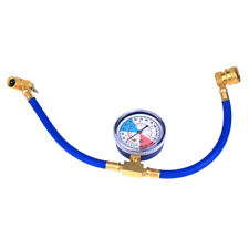R-134A RECHARGE MEASURING KIT A/C CONDITIONING GAUGE SYSTEM HOSE BRASS CAN TAP