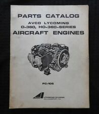 AVCO LYCOMING 0-360 H0 AIRCRAFT ENGINE PARTS CATALOG CESSNA 172 PIPER CHEROKEE