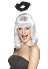 MARABOU ANGELS HALO LADIES FANCY DRES ANGEL ACCESSORY FEATHER HALO BLACK