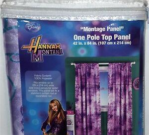 Disney HANNAH MONTANA Montage ONE POLE TOP PANEL Drape Curtain NEW 4 Available