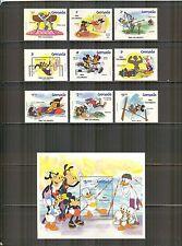 Grenada #1185-1194, 1984 Olympic Games - Walt Disney Characters, Unused NH