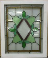 """MID SIZED OLD ENGLISH LEADED STAINED GLASS WINDOW Colorful Floral 23.25/"""" x 16/"""""""