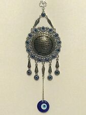 Islamic Turkish Blue Evil EYE Hamsa Wall Hanging Pendant Muslim AYAT UL KURSI