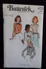 1970s SEWING PATTERN : BUTTERICK 6525 : MISSES' SHIRT : SIZE 12