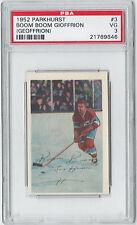 1952 Parkhurst Boom Boom Gioffrion (Geoffrion) #3 PSA VG 3 - Hockey Card