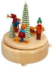 Boîte à musique nature Enfants de diapositives 15,5 cm Carillon Seiffen Noël