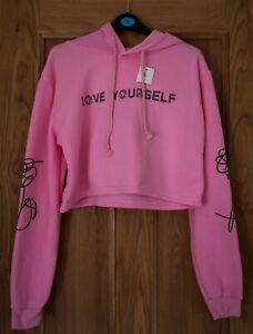 Women Girls Kpop BTS Crop Hoodie Sweatshirt