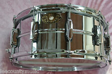 "COLLECTORS 100th ANNIVERSARY LUDWIG SUPRAPHONIC 6.5"" DEEP SNARE DRUM! LOT #H46"