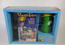 VeggieTales Christmas Gift Set The Toy that Stole Christmas VHS and 2 Plush