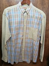 Men's Vintage Adirondack Button up Plaid Shirt by Savile Row Men's Large