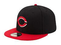 New Era 59Fifty MLB Cap Cincinnati Reds Alt AC On Field Fitted Hat - Black/Red