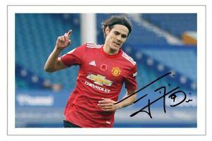 EDINSON CAVANI Signed Autograph PHOTO Fan Gift Signature Print MANCHESTER UNITED