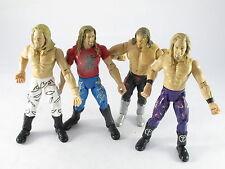 Jakks WRESTLING figura il bordo x 4 WWF WWE Deluxe aggressione