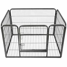 Extra Large 4 Sided Heavy Duty Pet Puppy Playpen Crate Pen Welping Dog Cage S247