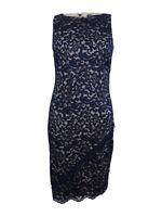 Lauren by Ralph Lauren Women's Lace Dress (4, Navy/Clay)