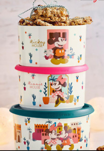 TUPPERWARE One Touch Storage Container Mickey and Minnie set New special Offer