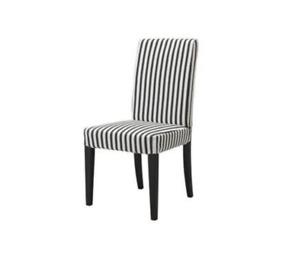 New IKEA HENRIKSDAL black/white ticking stripe Chair Cover *check size HTF