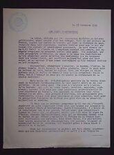 POLITIQUE FRANCE JEUNESSES PATRIOTES P. BARUZY 1934 COMMISSION OUVRIERE