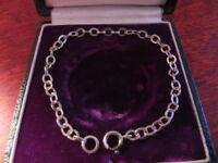 Hübsches 835 Silber Armband Jugendstil Art Deco Bettelarmband Gliederarmband