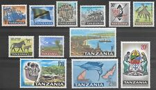 Tanzania Stamps - 1965 - Sg 128 to 138 - Mint Hinged - see photos