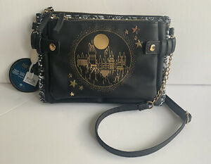 Harry Potter Official Black PU Leather Hogwarts  Bag X3 Joining Bags Primark New