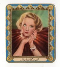 Marlene Dietrich 1936 Garbaty Passion Film Star Embossed Cigarette Card #8
