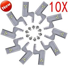 1-10X LED Cabinet Cupboard Closet Wardrobe Hinge Sensor Kitchen Night Light HQ