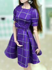 Handmade Purple Evening Dress Clothes For 26-30cm changing dress Doll