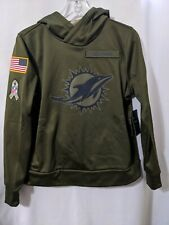 NWT Nike Miami Dolphins Salute to Service Womens Therma Hoodie Sweater Sz M
