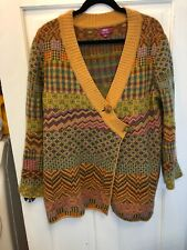 203. Ivko Sebia A Symetrical Sweater L Euc Intarsia Lambswool