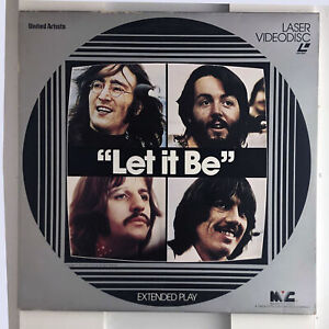 """THE BEATLES Laser Videodisc """"LET IT BE"""" Extended Play  DOCUMENTARY"""