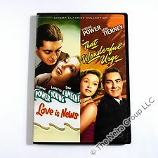 Love Is News/That Wonderful Urge DVD New Tyrone Power Loretta Young Gene Tierney