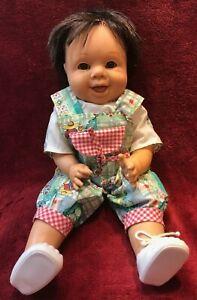 "1995 Vintage Famosa Expressions Doll Vinyl Cloth Doll 15"" Winking doll"