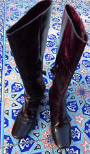 Costume National Boots Heels EU size 39.5 Dark Wine Color With Shoe Bag