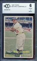 1957 Topps #210 Roy Campanella Card BGS BCCG 6 Good+